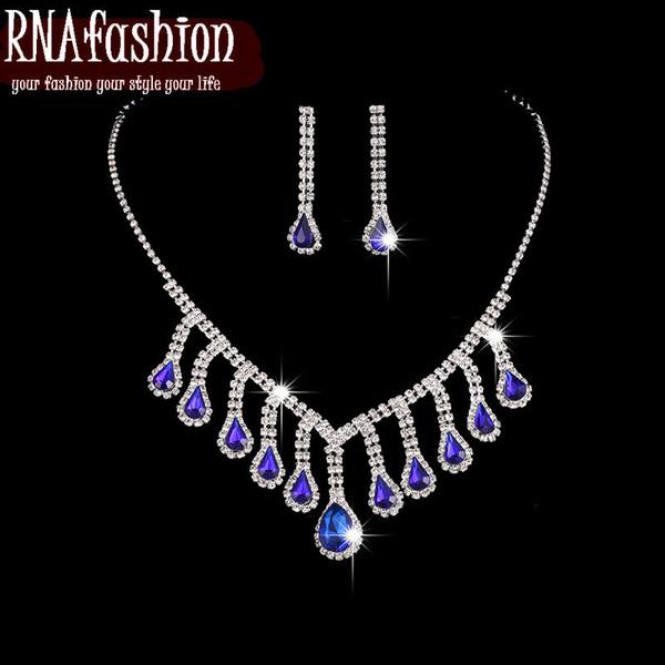 Fashion Wedding Wonderful Prom Wedding Bridal Jewelry sets ewelry Set Necklace Earrings Mothers Day
