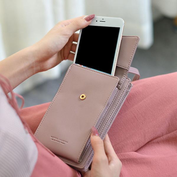 Großhandel Mini Umhängetaschen Handy Damen Haspe Tasche Frau Leder Brieftaschen Kleine Geld Einfache Brieftasche Frauen Geldbörse Quaste ukXPZi