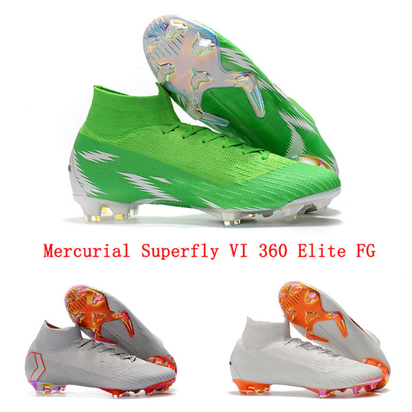 0a4332a9fc8b Mercurial Superfly VI 360 Elite FG Mens Soccer Cleats Nigeria Superfly 6  CR7 Soccer Shoes World