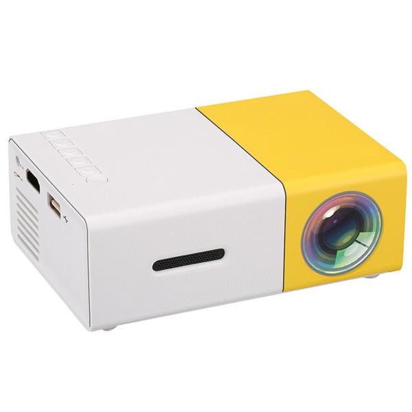 Projecteur portatif original de YG300 LED 500LM 3,5mm Audio 320x240 Pixel HDMI Mini projecteur de YG-300 de maison