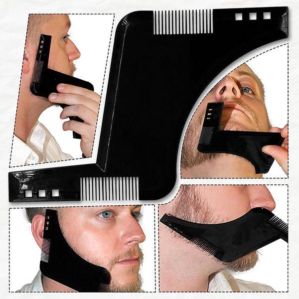 1pc New Best Beard Shaping Template Comb Beard Bro Shaping Tool Sex Man Gentleman Trim Template Hair Cut Hair Molding Beard Model