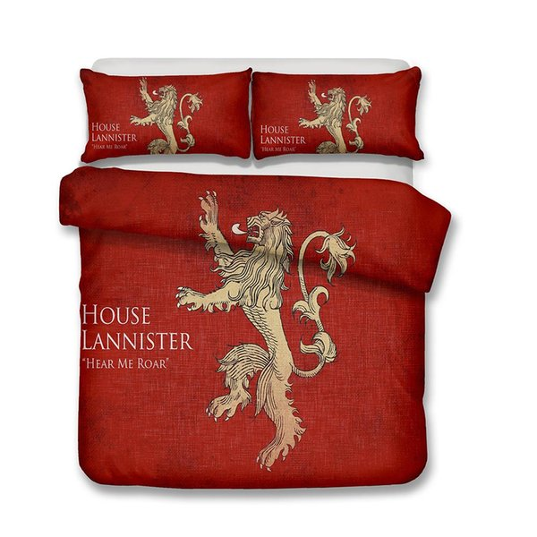 HBO Song of Ice and Fire Game of Thrones 3D Printed Bedding Sets Lannister House Duvet Cover