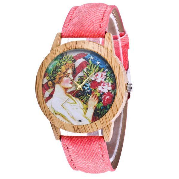 Teenage girl Pattern Luxury Fashion Denimr Strap Cheap Women Quartz Watch Women Valentine Gifts 2018 Montre Sport Bracelet Wrist