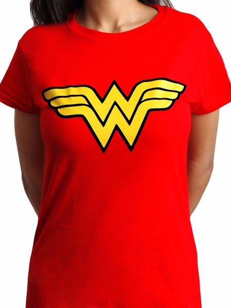 Wonder Woman Logo Classic Official DC Comics Justice League Womens Red T-shirt cattt windbreaker Pug tshirt