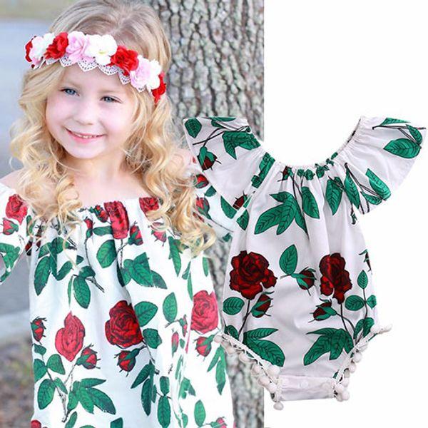 5e3eb531ec7 Flower White Newborn Baby Infant Girl Clothes Floral Backless Romper  Jumpsuit Body suit Sunsuit clothes for