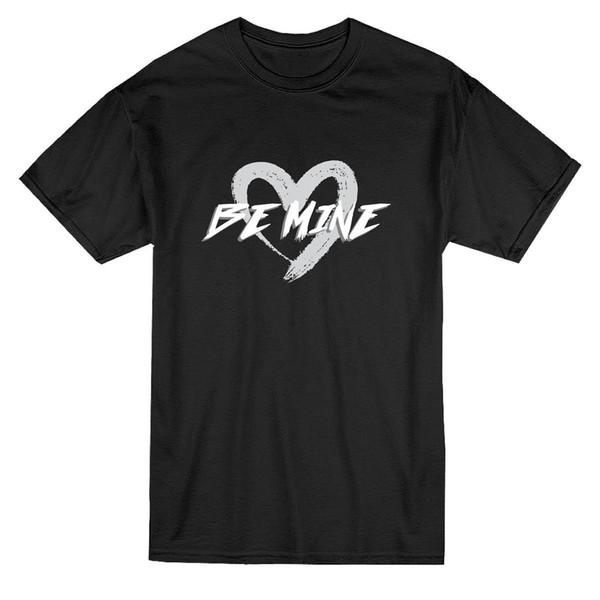 Быть моим сердцем мазок кисти графический мужская футболка мужская 2018 модный бренд футболка О-образным вырезом 100%хлопок футболки топы Tee custom