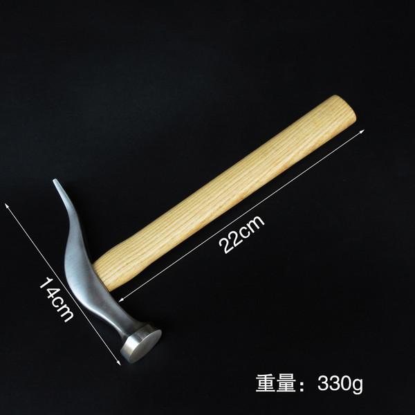 best selling Stainless steel bottom hammer, hand vamp hammer, wood handle leather carving hammer