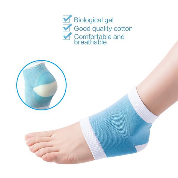 Sıcak Silikon Nemlendirici Jel Topuk Çorap Spa Jel Çorap Topuk Anti-Kırık topuk Koruma Kollu Ayak Cilt Koruyucu Ayak Bileği Çorap