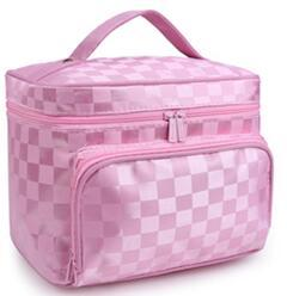 Obligatorio Womem Oxford tela bolsa de cosméticos de gran capacidad portátil bolsa de viaje bolsa de almacenamiento cosmético lavable bolsa de maquillaje a prueba de agua