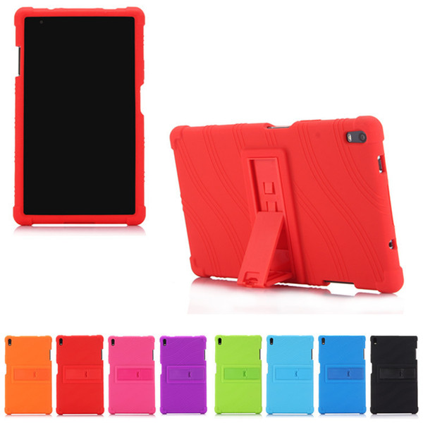 Shockproof Soft Silicone Case Cover Skin For 8'' Lenovo Tab4 8 Plus /8704N Tablet