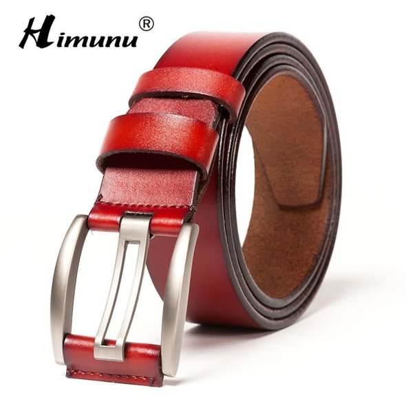 design di qualità 36d05 5fe49 Acquista Cintura In Vera Pelle Da Uomo HIMUNU Cintura Di Alta Qualità Con  Fibbia Ad Ardiglione Cintura Di Lusso Uomo Accessori Moda Vintage Cintura  ...