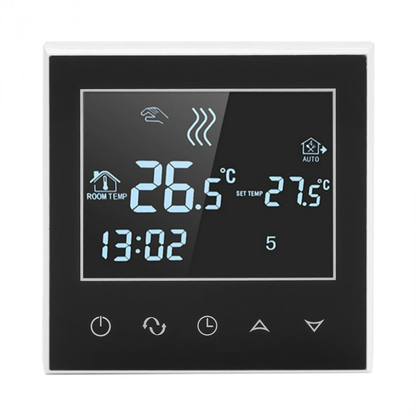 Termóstato inalámbrico programable de la calefacción de WiFi Pantalla táctil LCD digital Control de la aplicación Termóstato inalámbrico Medidor de temperatura