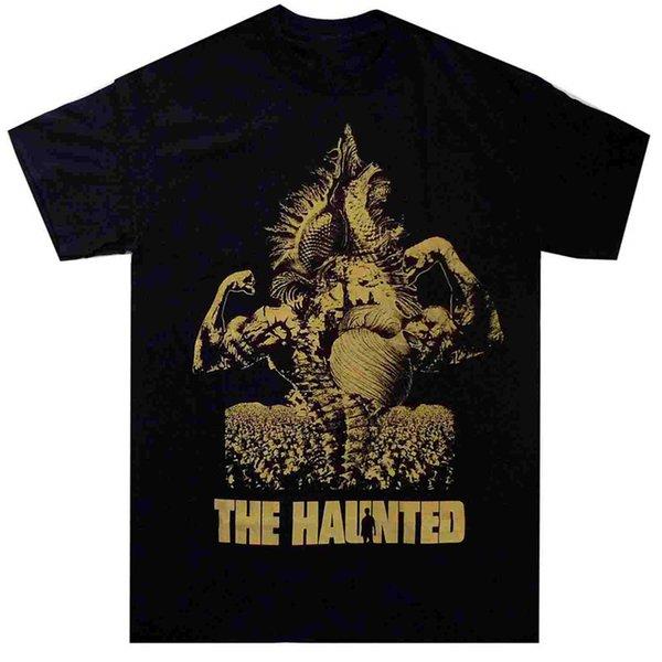 Kundenspezifisches T-Shirt-Entwurfs-Halsausschnitt das frequentierte Bronze-kurze Druck-Hemd für Männer