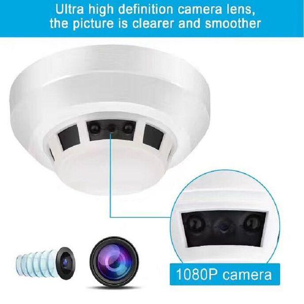 Night Vision Smoke Alarm Sensor IP NETWORK WIFI SECURITY CCTV CAMERA IR-CUT SECURITY HOME SD H.264 Support 32GB
