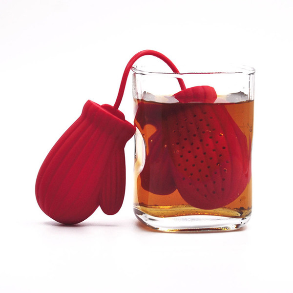 Gloves Shape Tea Strainer Silicone Tea Infuser Filter Teapot Teabags for Tea Coffee Drinkware Tools