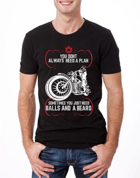 Мячи и борода футболка мужская S-2XLretro байкер Райдер кафе гонщик велосипед тройник лето хипстер