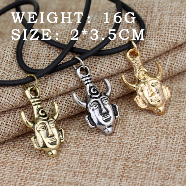Hot style movie accessories pirates, evil necklace gold coin chain men's skull necklace pendant, free shipping.