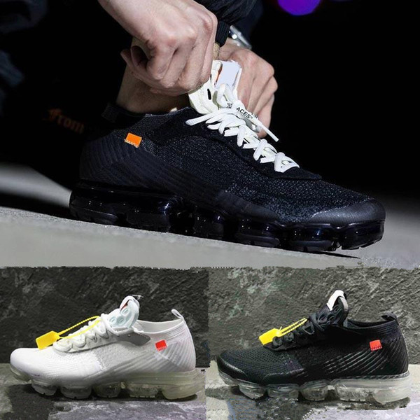 meet 816c7 1760e 2018 Vapormax Trainers Black White For Mens Womens Luxury Knitting Fashion  Designer Breathe Vapormaxs Athletic Walking Outdoor Casual Shoes Loafers ...