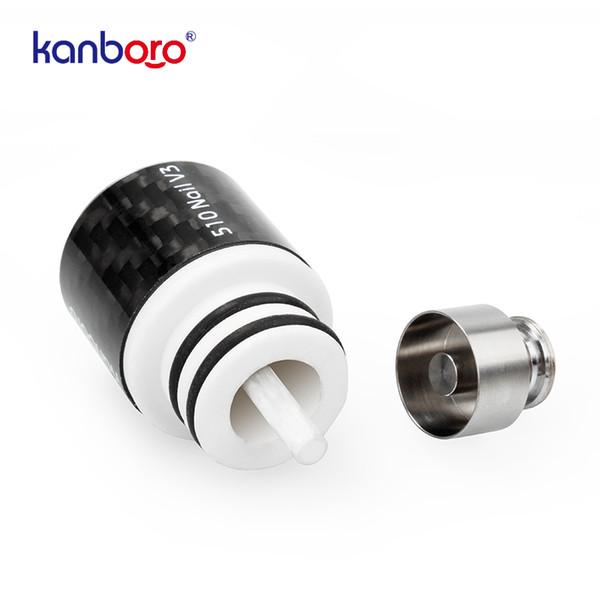 Kanboro Wax Enail 510 Pro Nail V3 Atomizer Tank Detachable Heating Rod XL Ceramic Titanium Nail Chamber for 18650 Battery Vape