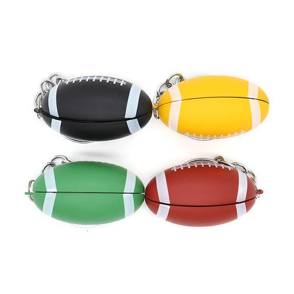 2018 New Creative Football Smoking Pipe Removable Personality Mini Key Ring Metal Pipe Tobacco Free Shipping