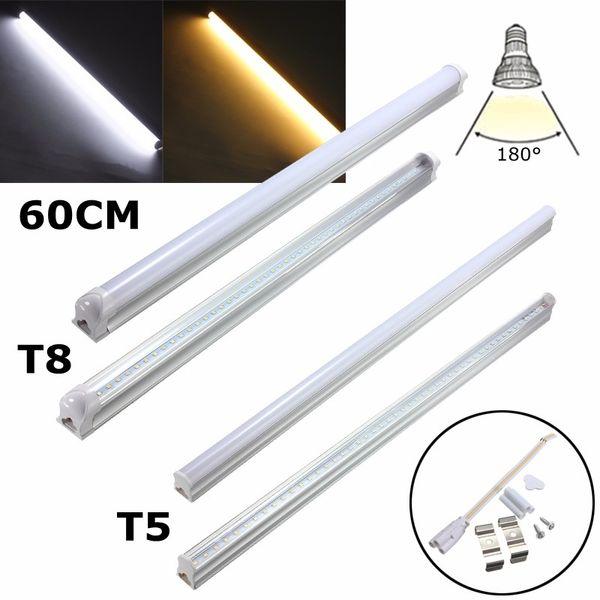 LED-Lichtschlauch-Birne 4.8W 9W T5 T8 G13 2835SMD Lampen-Schlauch-Leuchtstofflicht-warmes weiches Weiß, das 30cm 60cm AC85-265V beleuchtet