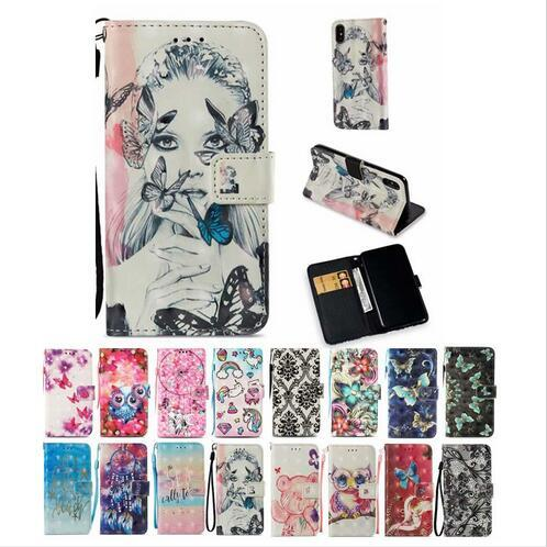 Luxury Dreamcatcher Butterfly Girl Wallet Flip Stand Leather Case for New iphone 6.1 6.5inch X 8 7 6 6S Plus Galaxy S8 S9 Note 9 A8 2018