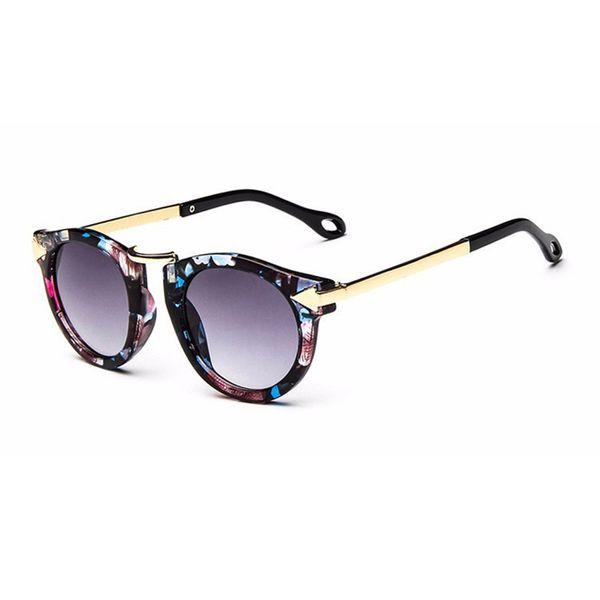 3ef0a5c56 Nova Marca Na Moda Crianças Óculos De Sol Polígono Crianças Meninos Meninas  Óculos De Sol Sun
