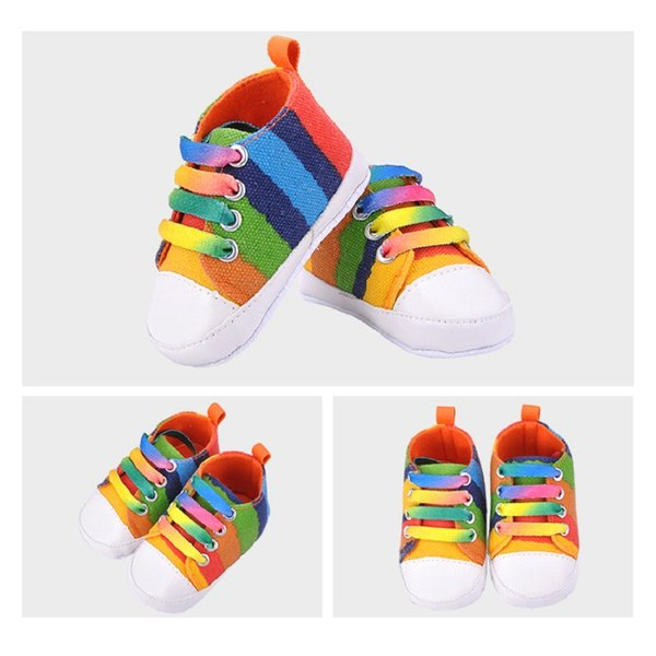 Fast Track Sell Seven Color Canvas Baby Shoes Anti Slip Soft Bottom Baby Toddler Shoes 0-1 Babyshoes