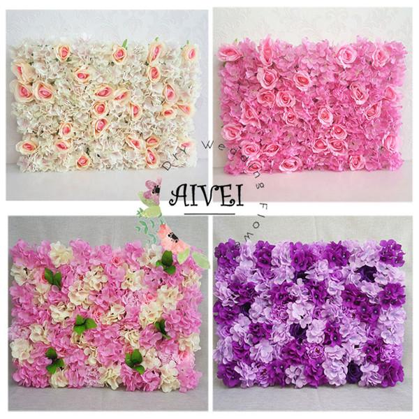 Künstliche Hortensie-Blumen-Wand für Hochzeits-Stadiums-Dekoration und Geburtstagsfeier-Hintergrund oder Speicher und Inneneinrichtung