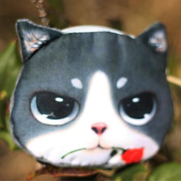 1 Stück Nette Katze Tier Muster Geldbörse Fashion Make-Up Tasche Plüschtier Münze Schlüsselgeldbeutel Geschenk Süße Schöne Mini Key Bag Heißer Verkauf