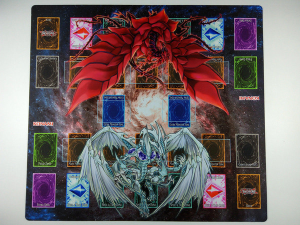 Yu-Gi-Oh! Dragons 2-Player Master Rule 4 Link Zones custom Playmat TCG CCG Mat card games mat Free Shipping