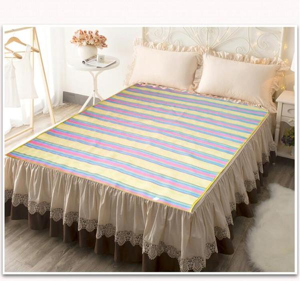 Coloridas colchonetas de cama de verano de alta calidad tejido jacquard alfombras de playa resbaladizas cómodas al aire libre aptos para picnic estera de camping envío libre de varios tamaños