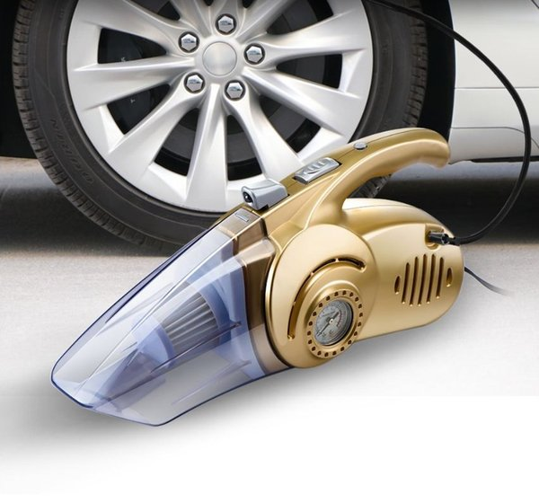 4 in 1 Multi-function Wet And Dry Dual Use Car Vacuum Cleaner Tire Inflator Pump Auto Air Compressor with LED Light (Retail)