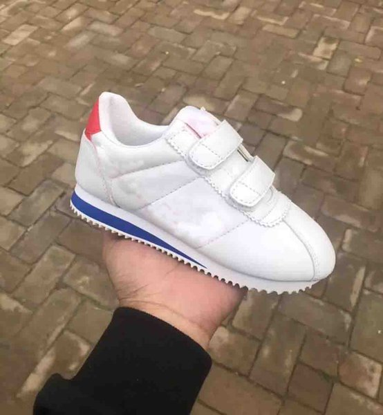 Classic Cortez Basic Casual Shoes Cheap Fashion kids Black White Red Skateboarding baby Sneakers Size 25-35