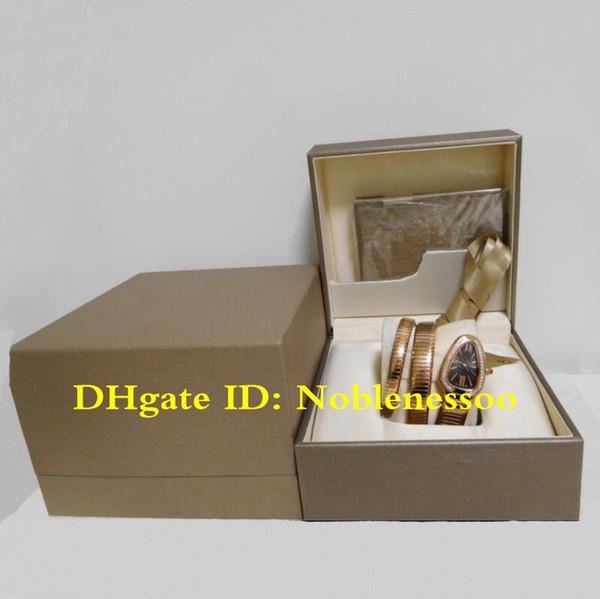 3 Cor de luxo Senhoras Rose ouro Serpenti Tubogas Preto das Mulheres Novo Modelo de Cobra Diamante de Quartzo Relógio de Pulso Das Senhoras do Relógio das Mulheres Relógios