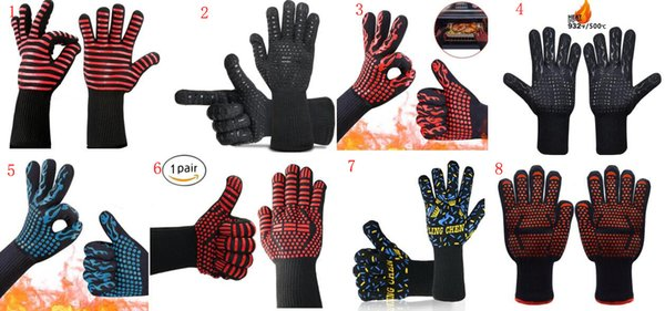 BBQ Grill Gloves Heat Resistance and Insulated Silicone for Barbecue with Grilling,Smoker,Cooking and Oven,Baking,Fireplace,Frying Kitchen