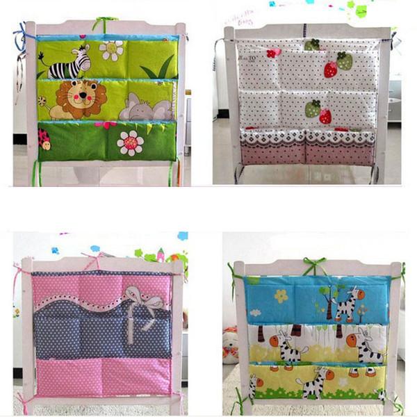 Cartoon Rooms Nursery Hanging Storage Bag Baby Cot Bed Crib Organizer 60 *52cm Toy Diaper Pocket For Newborn Crib Bedding Set