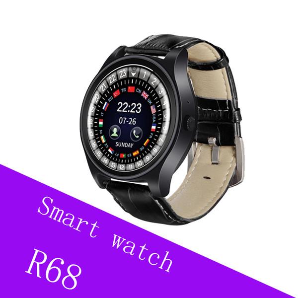 Relojes inteligentes para teléfonos android iwatch R68 Mini GSM Teléfono Bluetooth Smartwatch con tarjeta SIM Mensajes de inserción para hombre Reloj de lujo como regalo