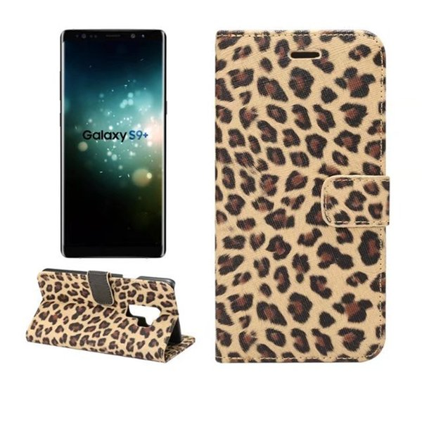 Sexy leopard print Leather Case For Samsung Galaxy S9 Plus Wallet Flip stand Cover carcasas With Card Slot Mobile Phone Bags