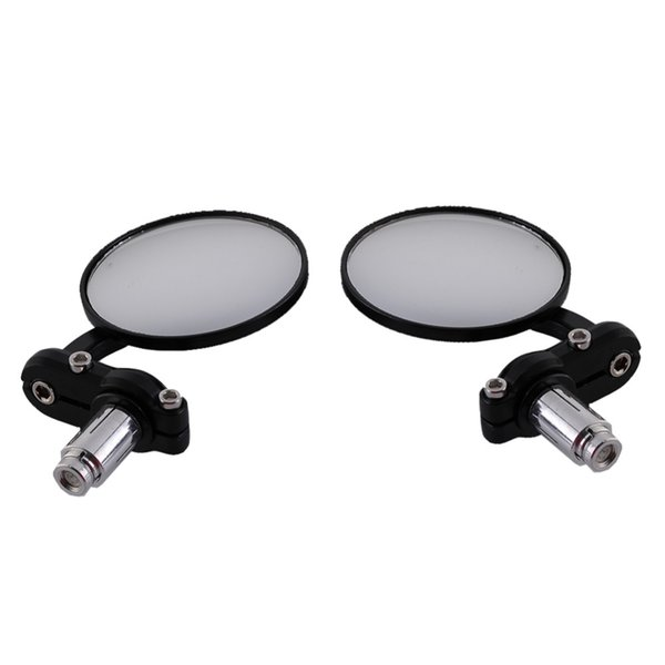 """7/8"""" Universal Round Motorbike Motorcycle Handle Bar End Rearview Side Mirrors Black Professional Motorcycle Accessories"""