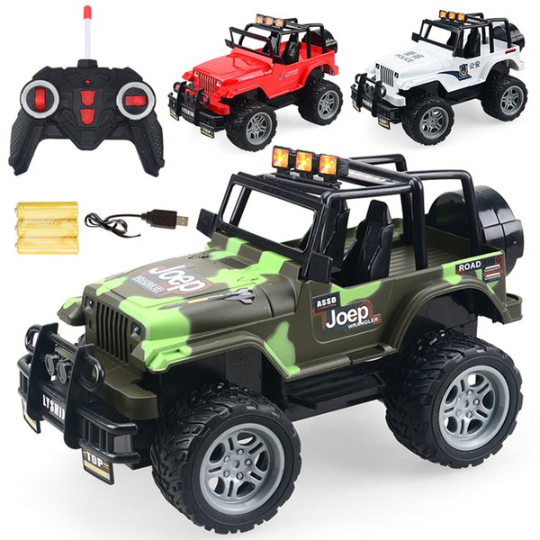 1PC Cool Remote Control 4CH RC Car Electric Toys Funny kids Toys Party Radio Racing Controlled Cars 4 Channels Vehicle SUV Police Jeep Big
