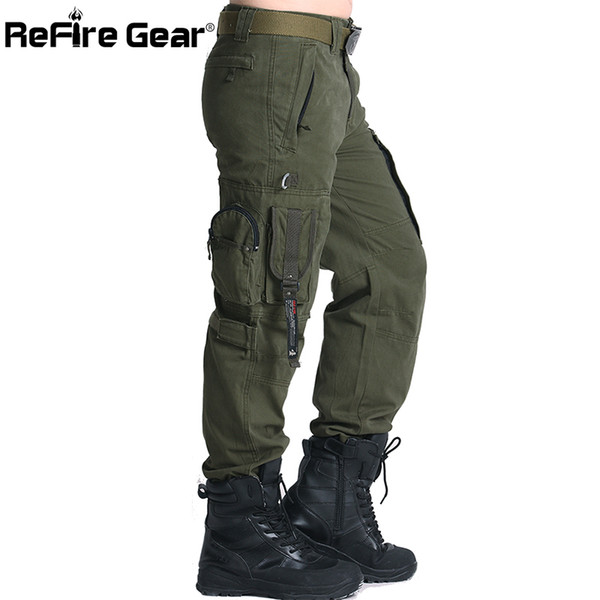 ReFire Gear SWAT 101 Airborne Army Pants Men US Security Combat Tactical Cargo Pants Casual Cotton Many Pocket Military Trousers Y1892801