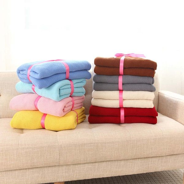 Knitted Air Conditioning Throw Blanket for Bed Infant Wrap Thread Blanket Sofa Plaid Koc Mantas Comforter