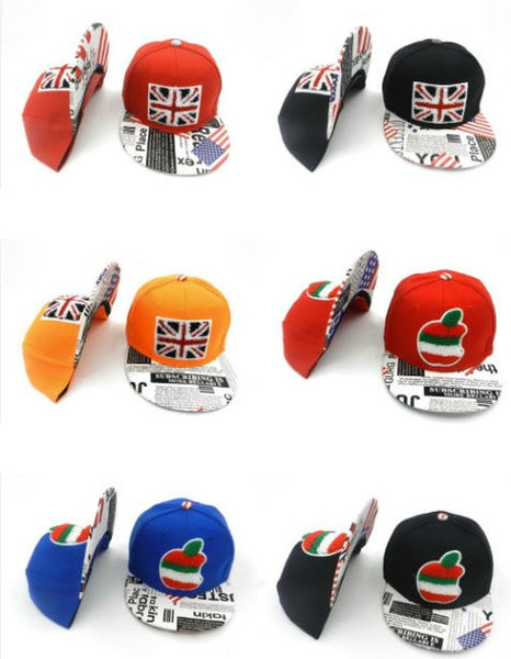 Wholesale popular kids snapback hats youth hats boy girl fashion caps outdoor sunny hats adjusted caps free shipping
