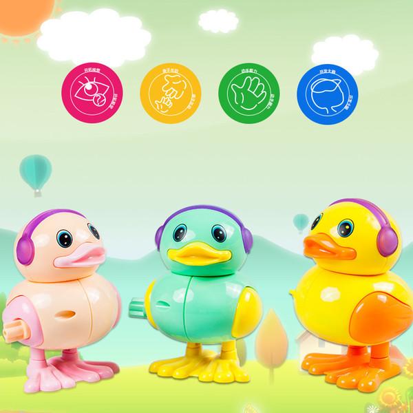 Los nuevos productos de la cadena de juguetes de primavera pato puestos buena oferta cadena caliente pato primavera cadena pato, salto pato