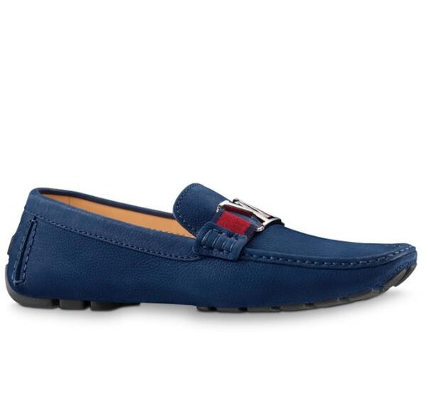 vvtisks9 1A3Q40 MONTE CARLO LOAFER BLUE Men Moccasins Loafers Lace Ups Monk Straps Boots Slippers Drivers Sandals Slides Sneakers Dress Run