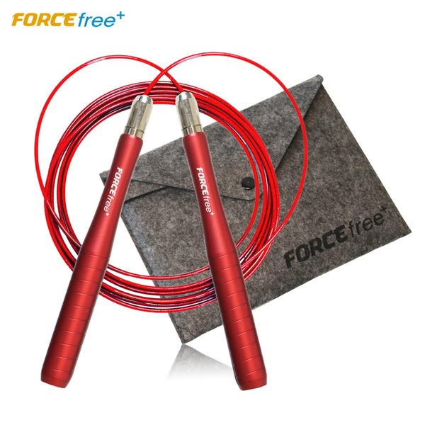 Professional Crossfit Speed Skipping Jump Rope for Fitness Skip Workout Training w/ Carrying Bag Spare Cable