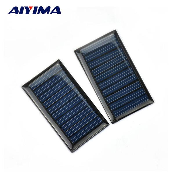 cell photovoltaic AIYIMA 2PCS 5V 30mA Epoxy Panel Polycrystalline Solar Cell Photovoltaic Panel Power Energy Module DIY Home Solar Sistem