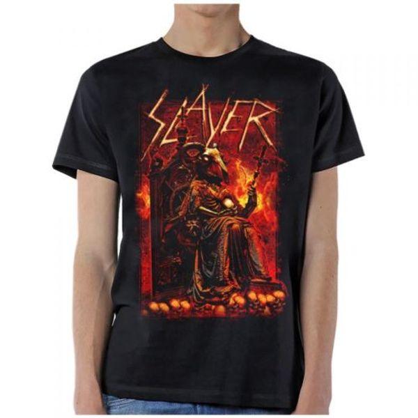SLAYER - Cabra - T-shirt S-M-L-XL-2XL Brand New-Official camiseta 2018 moda 100% algodão camiseta topos atacado