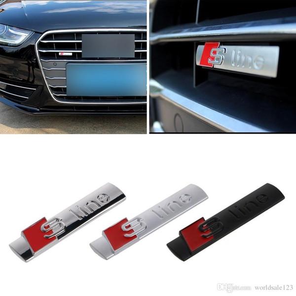 Nouveau Automobiles 3D En Métal Autocollant De Voiture S line Autocollant Couvre-voitures pour Audi A3 A4
